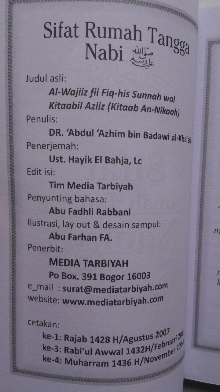 Buku Saku Sifat Rumah Tanggal Nabi 12.000 15% 10.200 Media Tarbiyah DR. Abdul Adzim Badawi isi 2