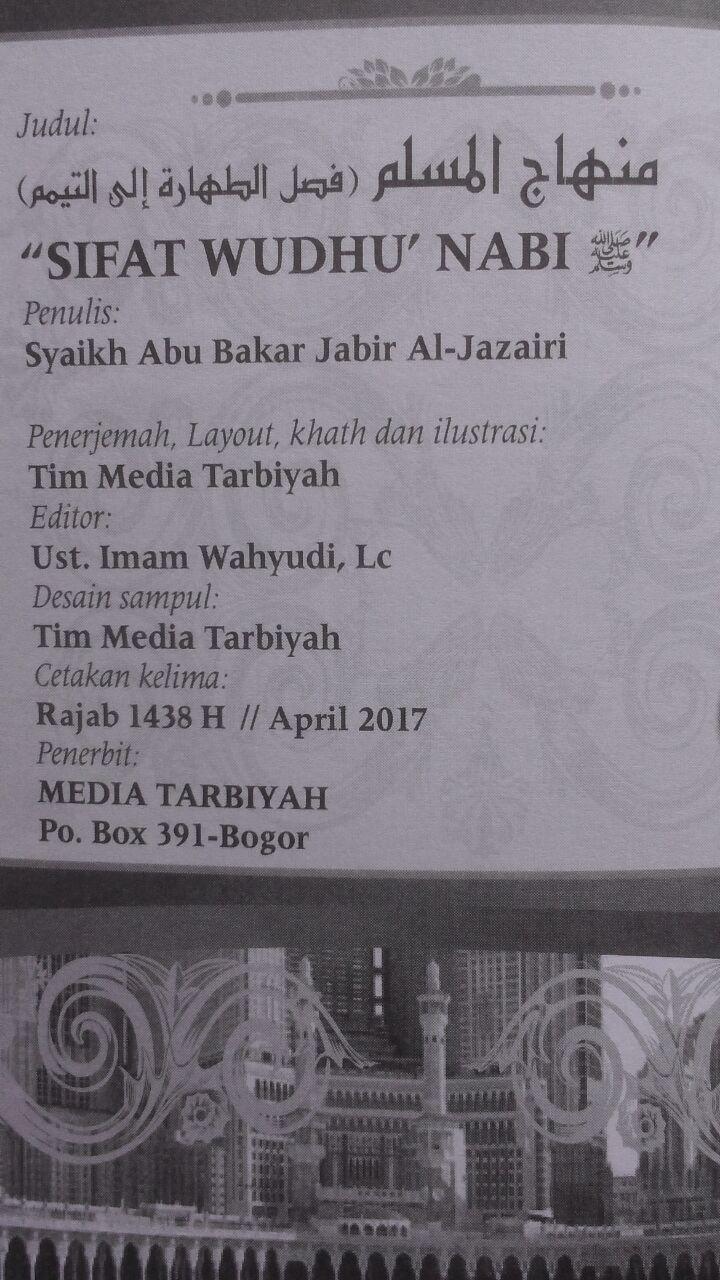 Buku Saku Sifat Wudhu Nabi Disertai Gambar 12.000 15% 10.200 Media Tarbiyah Syaikh Abu Bakar Jabir Al-Jazairi isi 3