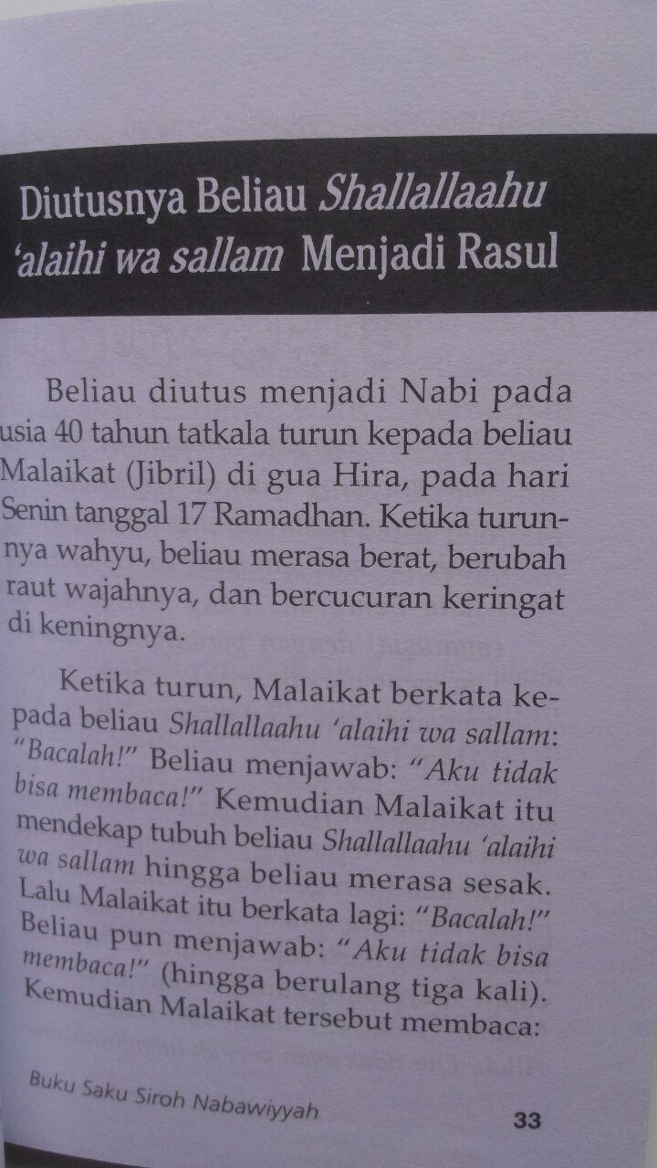 Buku Saku Siroh Nabawiyah Sketsa Singkat Sejarah Nabi 12.000 15% 10.200 Media Tarbiyah Tim Kajian Darul Wathan Saudi Arabia isi 2