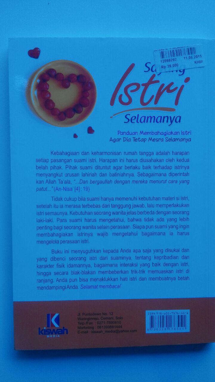Buku Sayang Istri Selamanya 39.000 15% 33.150 Zam Zam cover 2