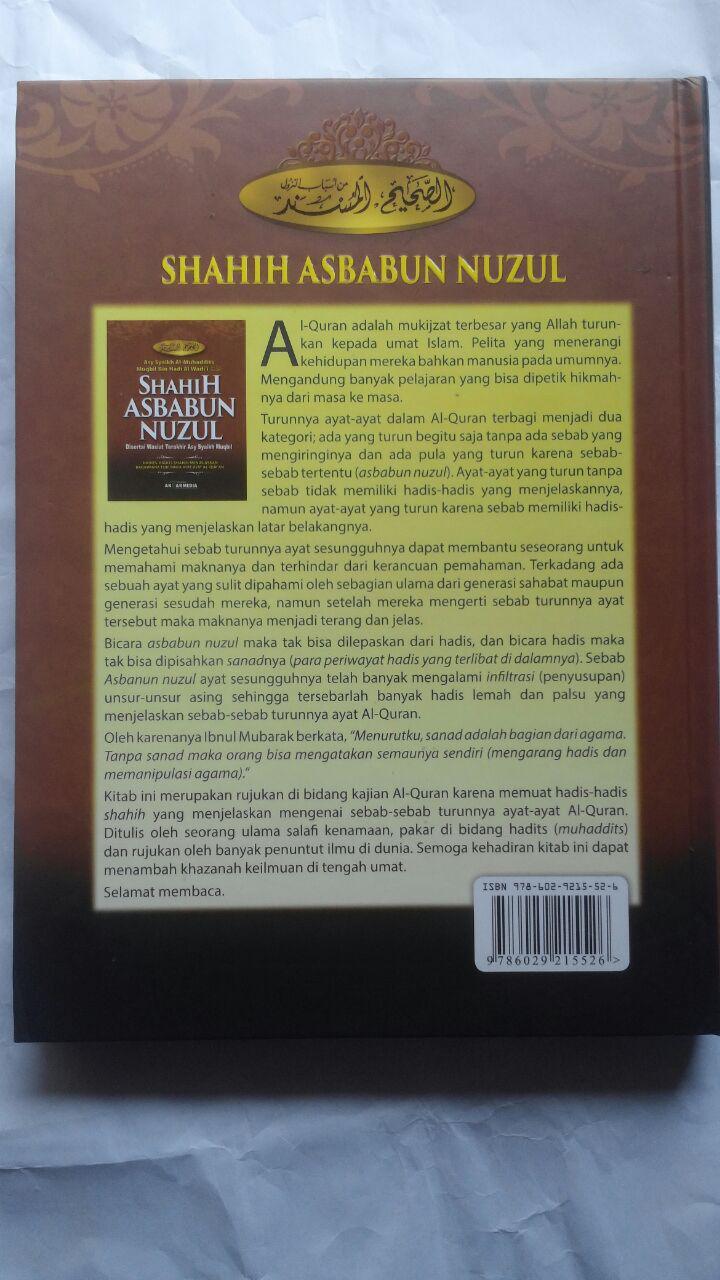 Buku Shahih Asbabun Nuzul Hadits Shahih Turunnya Ayat Al-Qur'an 115.000 20% 92.000 Akbar Media Syaikh Muqbil bin Hadi Al-Wadi'i cover