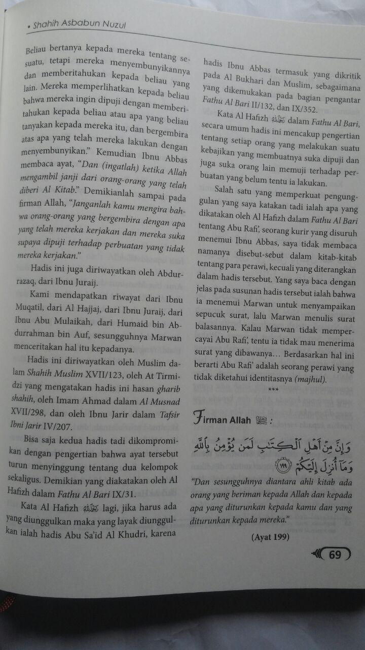 Buku Shahih Asbabun Nuzul Hadits Shahih Turunnya Ayat Al-Qur'an 115.000 20% 92.000 Akbar Media Syaikh Muqbil bin Hadi Al-Wadi'i isi
