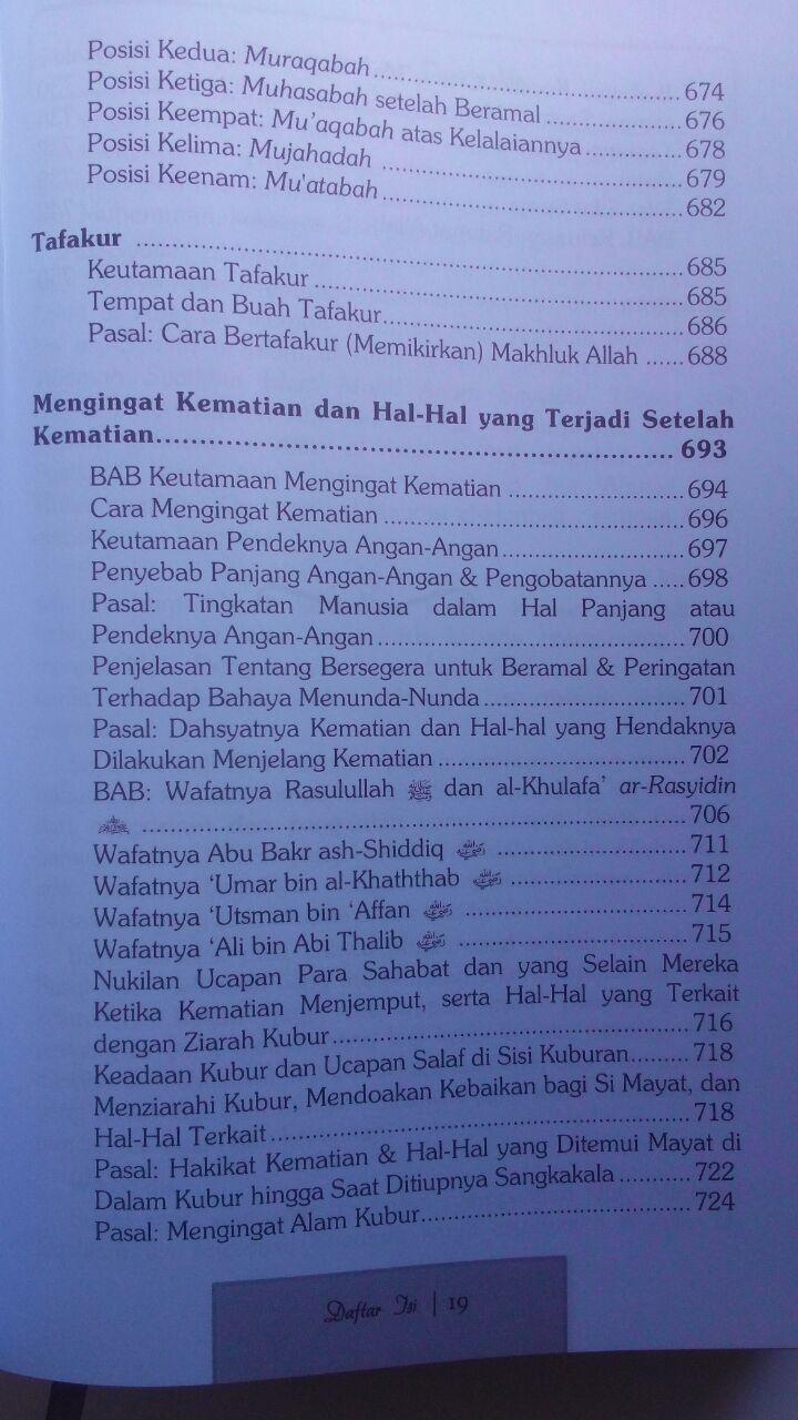 Buku Terjemah Mukhtashar Minhajul Qashidin 145.000 15% 123.250 Attuqa Ibnu Qudamah Al-Maqdisi isi 2