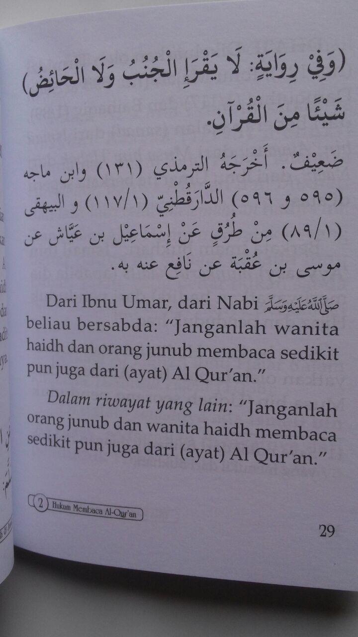 Buku Tiga Hukum Perempuan Haidh Dan Junub 17.500 15% 14.875 Maktabah Muawiyah Bin Abi Sufyan Abdul Hakim bin Amir Abdat isi 2