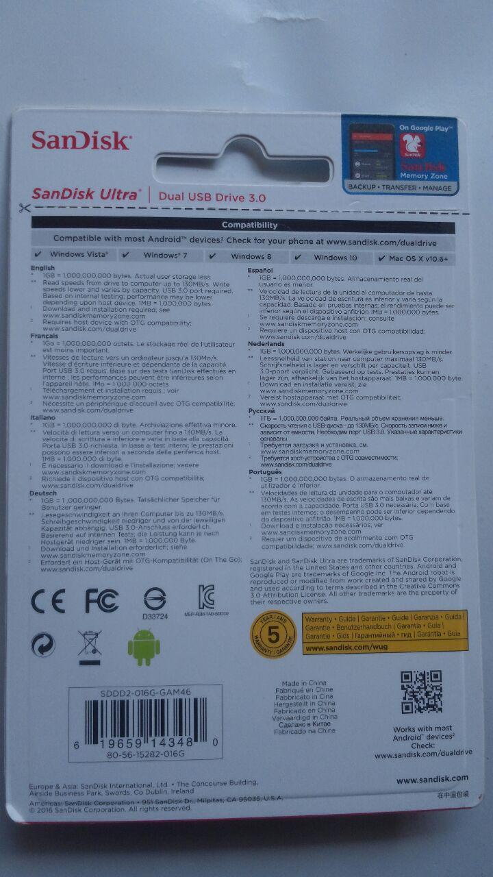 Flashdisk Belajar Bahasa Arab 16 GB Dual OTG 200.000 5% 190.000 Bisa cover 3