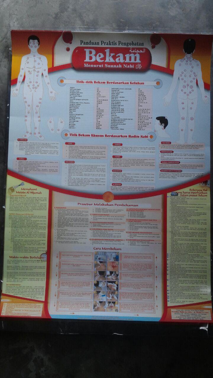 Poster Panduan Praktis Pengobatan Bekam 15.000 15% 12.750 Granada Mediatama cover