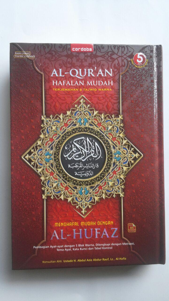 Al-Qur'an Hafalan Mudah Terjemah Tajwid Warna Al-Hufaz 79.500 15% 67.575 Cordoba cover 3