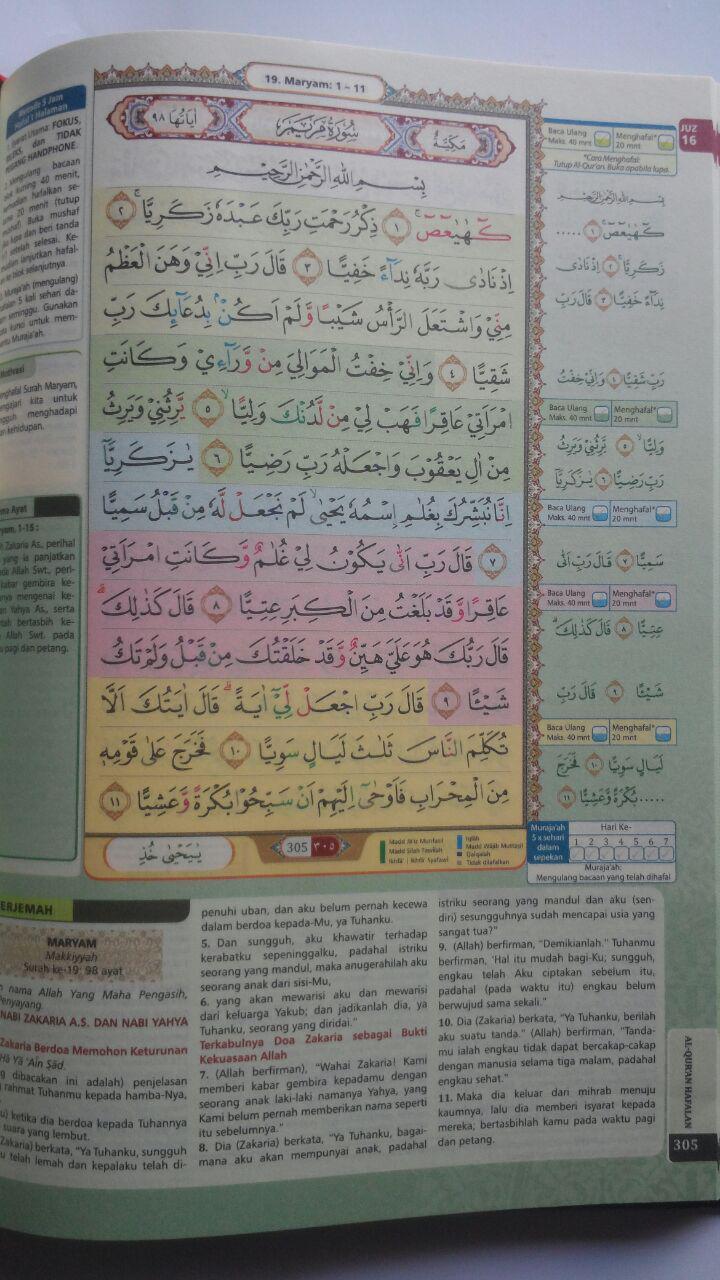 Al-Qur'an Hafalan Mudah Terjemah Tajwid Warna Al-Hufaz 79.500 15% 67.575 Cordoba isi 3