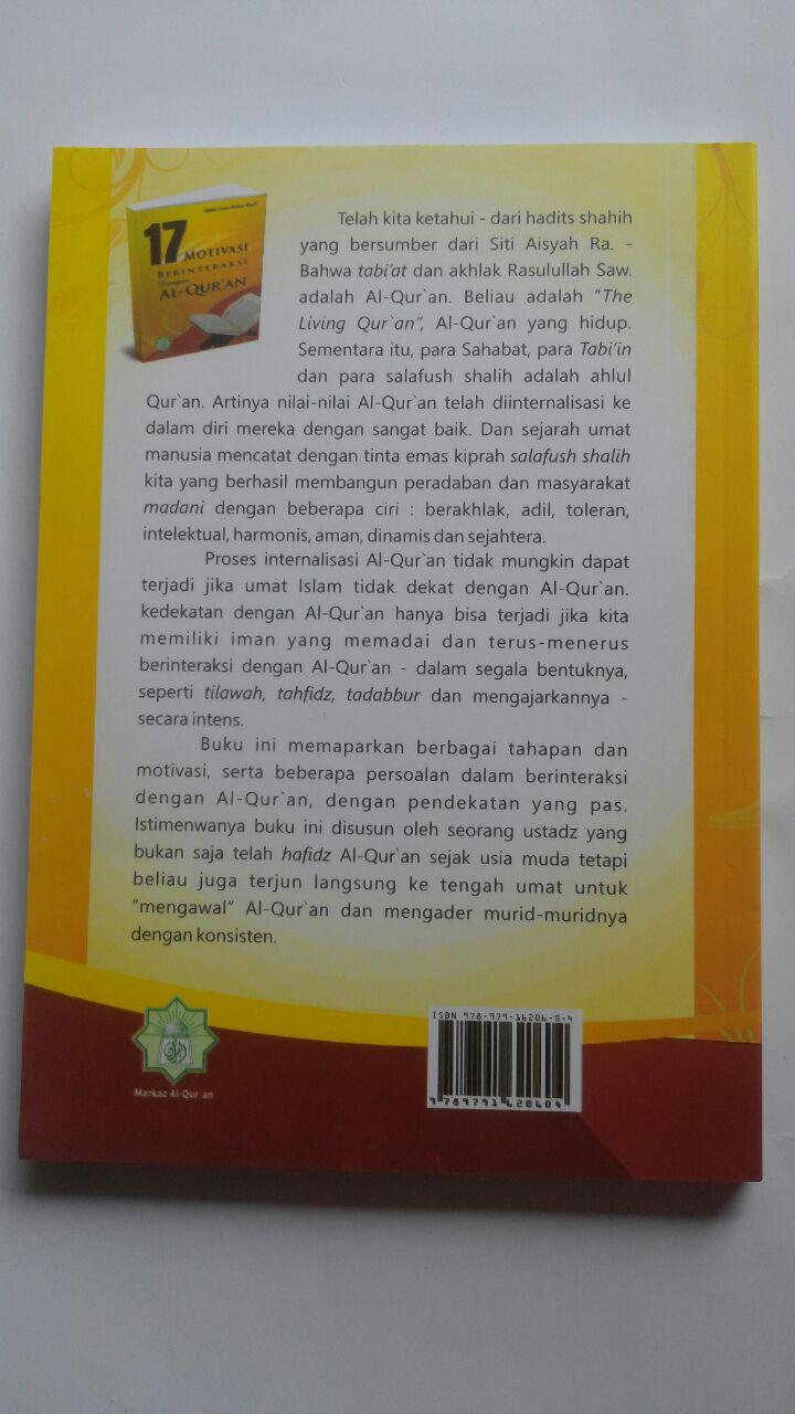 Buku 17 Motivasi Berinteraksi Dengan Al-Qur'an 45.000 15% 38.250 Markaz Al-Quran Abdul Aziz Abdur Rauf cover