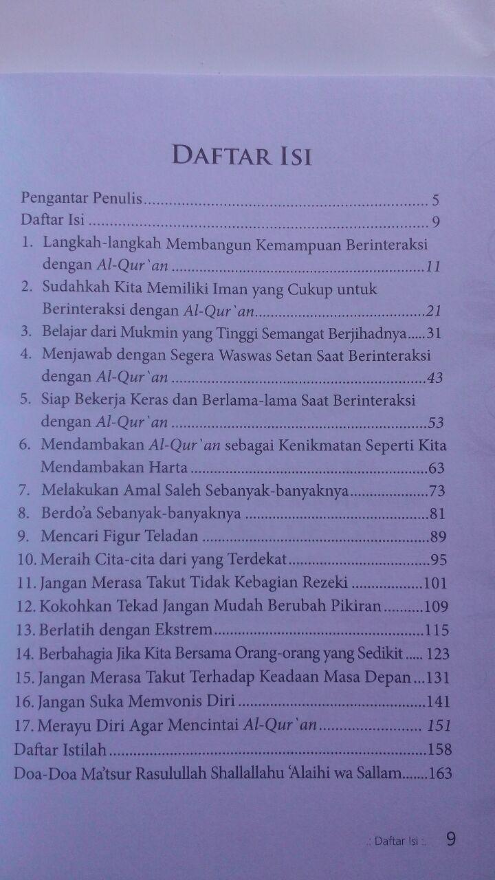 Buku 17 Motivasi Berinteraksi Dengan Al-Qur'an 45.000 15% 38.250 Markaz Al-Quran Abdul Aziz Abdur Rauf isi 2