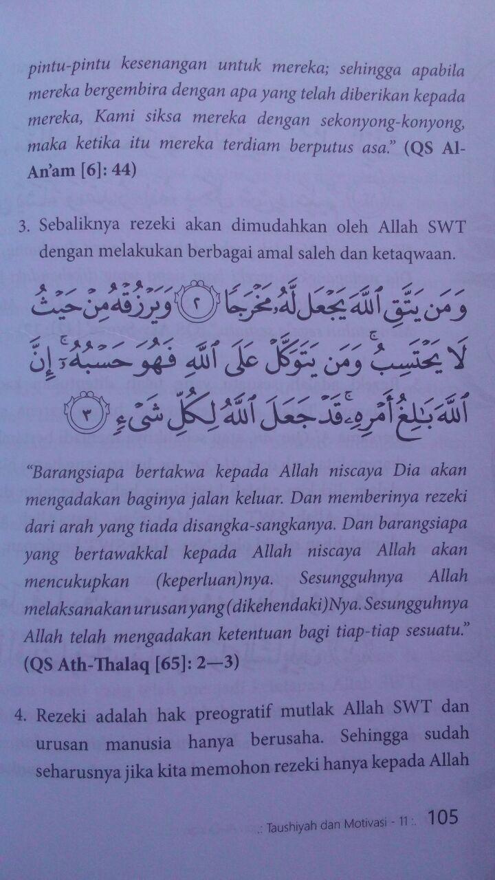 Buku 17 Motivasi Berinteraksi Dengan Al-Qur'an 45.000 15% 38.250 Markaz Al-Quran Abdul Aziz Abdur Rauf isi 3