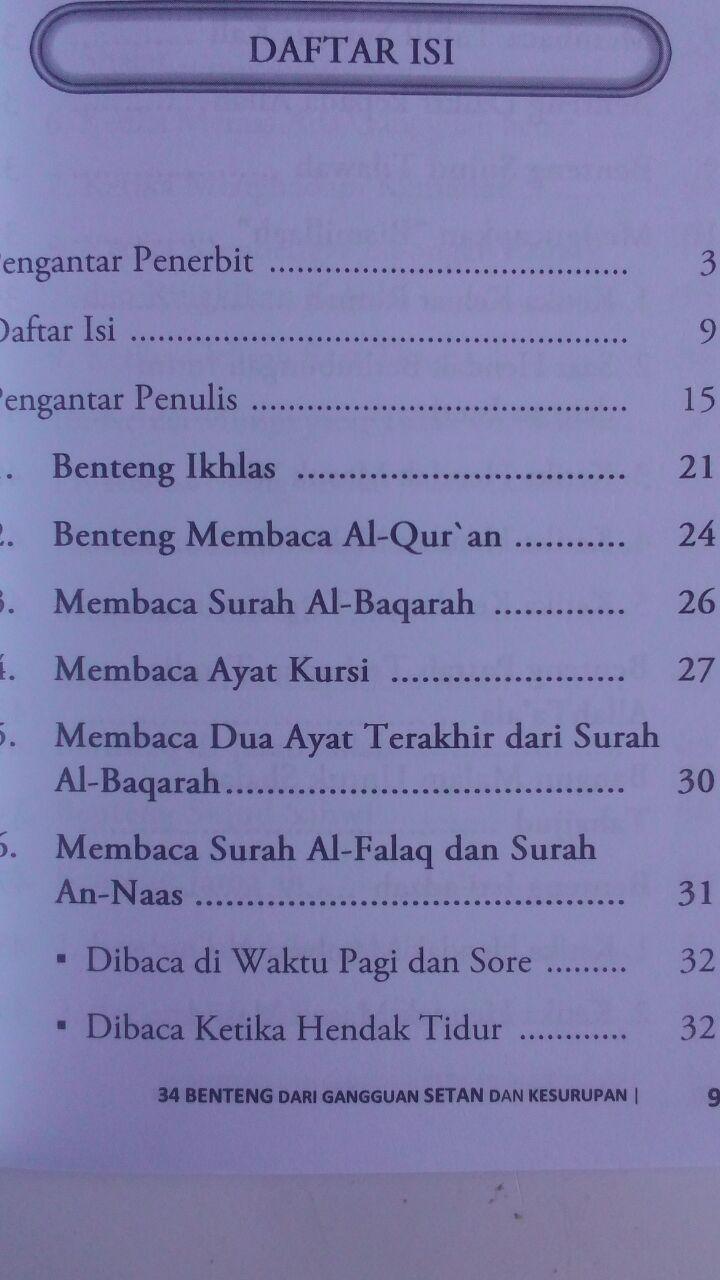 Buku 34 Benteng Dari Gangguan Setan Dan Kesurupan 16.000 15% 13.600 Darulkutub Abdul Hadi bin Hasan Wahbi isi