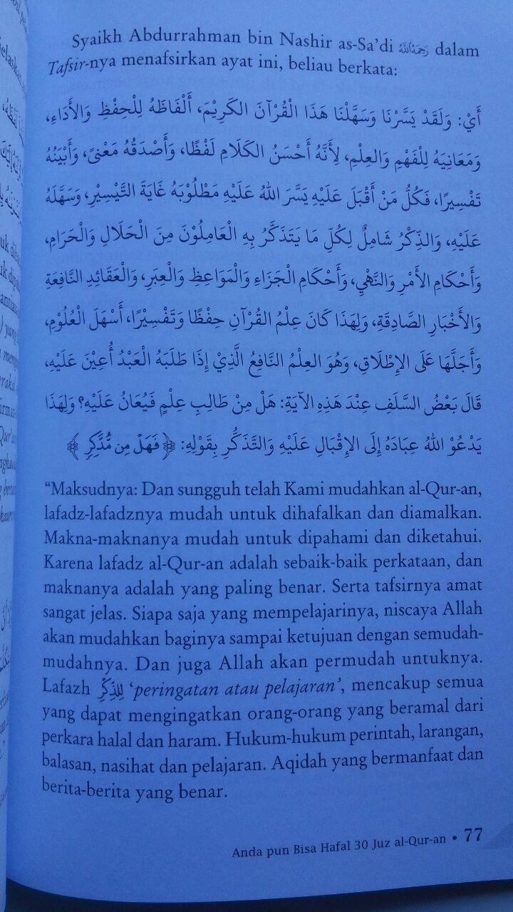 Buku Anda Pun Bisa Hafal 30 Juz Al-Qur'an 30.000 15% 25.500 Pustaka Imam Asy-Syafi'i Zakariyal Anshari isi 3