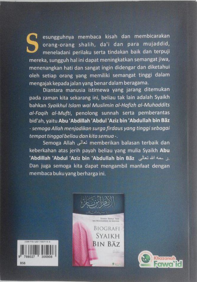 Buku Biografi Syaikh Bin Baz 30.000 15% 25.500 Khazanah Fawaid Abdul Aziz bin Muhammad As-Sadhan cover