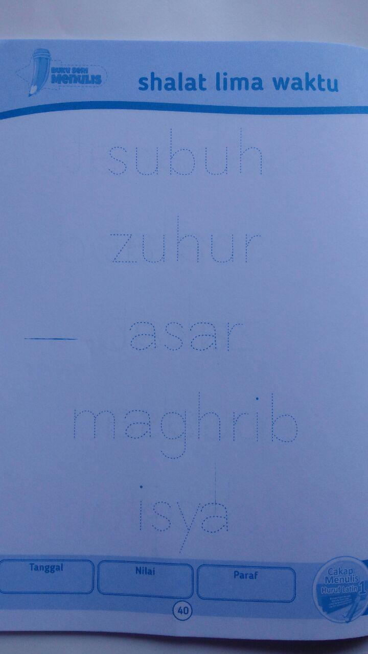 Buku Cakap Menulis Huruf Latin 1 Set 6 Jilid