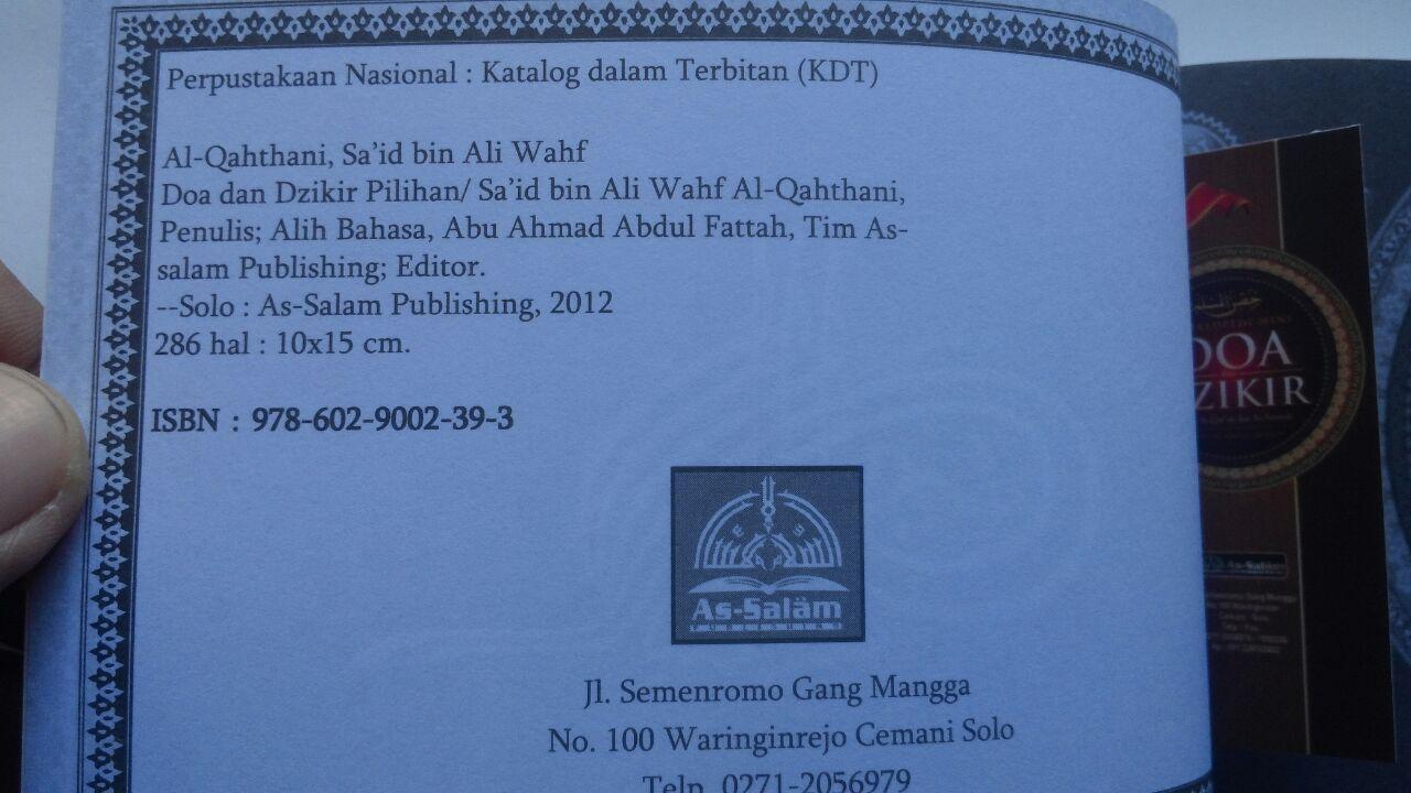 Buku Ensiklopedi Mini Doa Dan Dzikir Format Baru 11.000 15% 9.350 As-Salam Publishing Said bin Wahf Al Qahthani isi 2