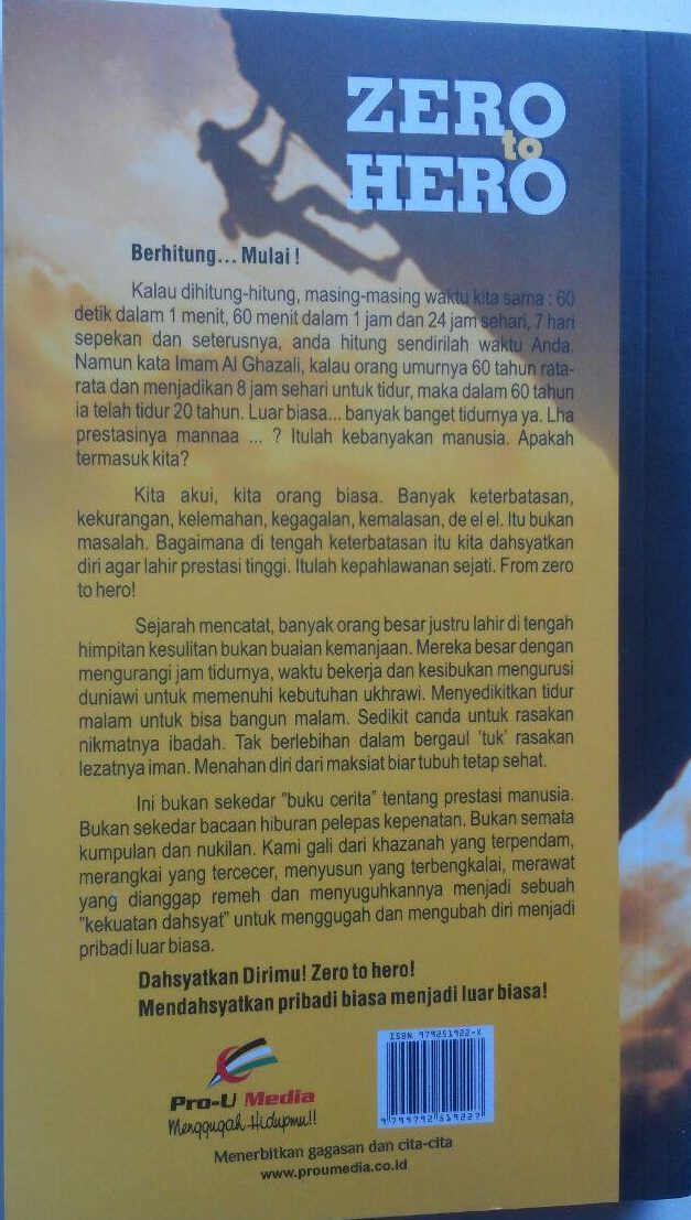 Buku From Zero To Hero Mendahsyatkan Pribadi Biasa 42.000 15% 35.700 Pro-U Media Solikhin Abu Izzuddin cover
