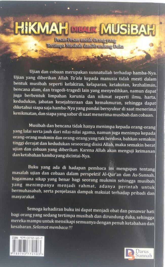 Buku Hikmah Di Balik Musibah Pesan Untuk Yang Tertimpa Musibah 15.000 15% 12.750 Darus Sunnah Fariq Gasim Anuz cover