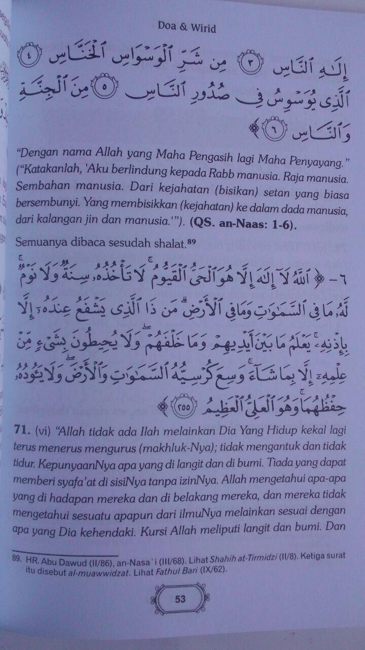 Buku Hishnul Muslim Doa Dan Wirid Disertai Transliterasi 24.000 15% 20.400 Pustaka At-Tibyan Said bin Wahf Al Qahthani isi 4