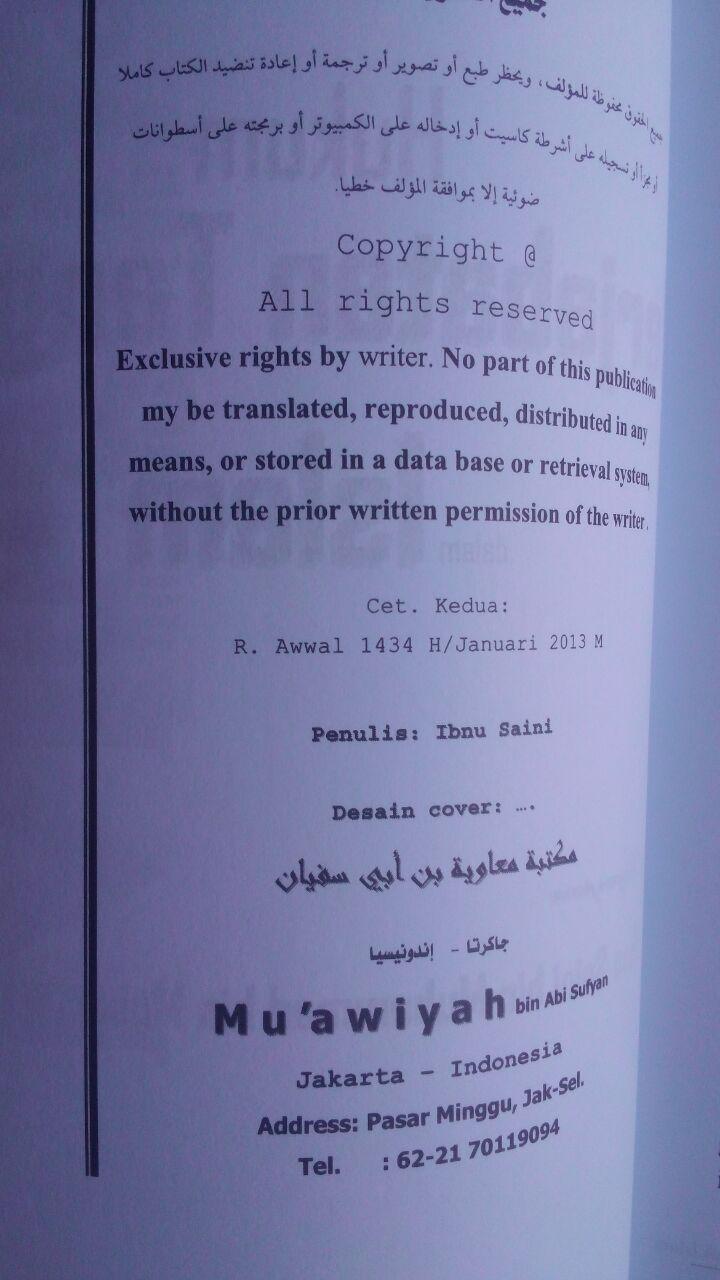 Buku Hukum Berjabat Tangan Di Dalam Islam 32.000 15% 27.200 Maktabah Muawiyah Bin Abi Sufyan Ibnu Saini bin Muhammad bin Musa isi 2