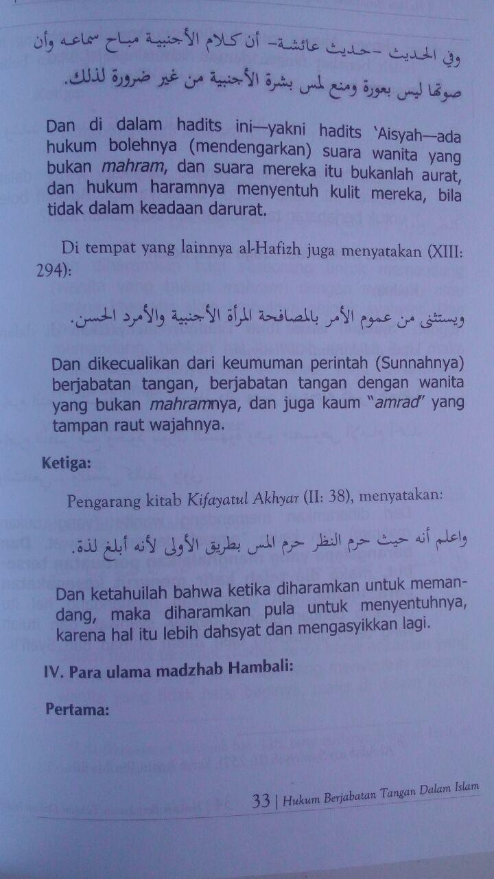 Buku Hukum Berjabat Tangan Di Dalam Islam 32.000 15% 27.200 Maktabah Muawiyah Bin Abi Sufyan Ibnu Saini bin Muhammad bin Musa isi 3