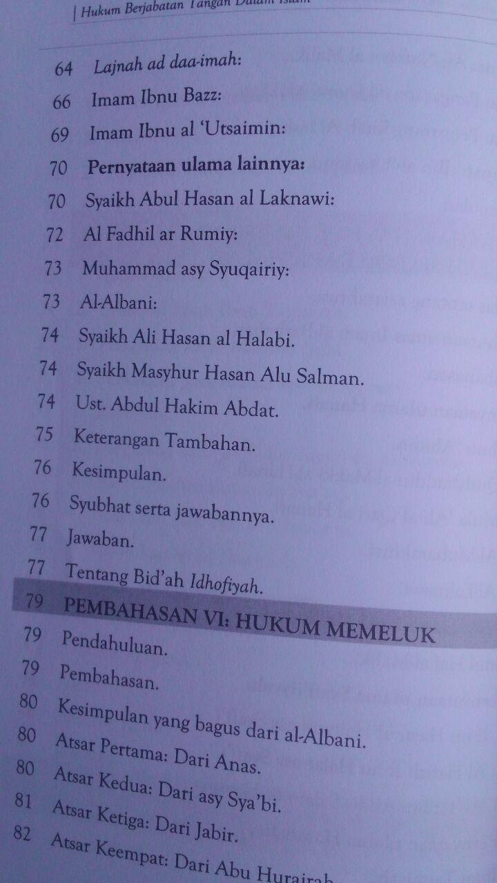 Buku Hukum Berjabat Tangan Di Dalam Islam 32.000 15% 27.200 Maktabah Muawiyah Bin Abi Sufyan Ibnu Saini bin Muhammad bin Musa isi