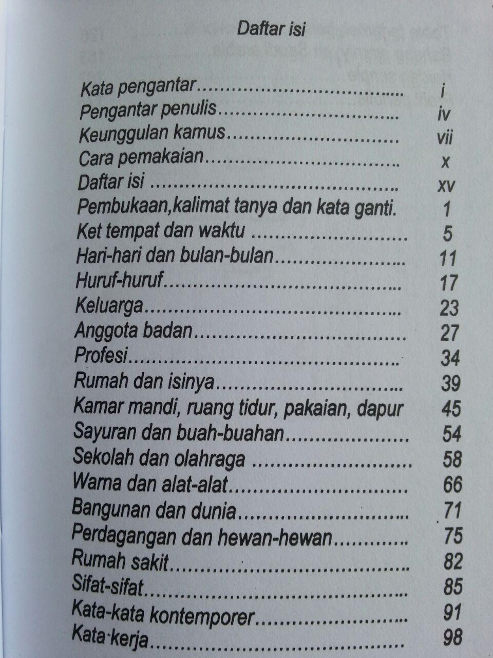 Buku Kamus Alfiyyah 1050 Kosakata Arab Yang Sering Digunakan isi