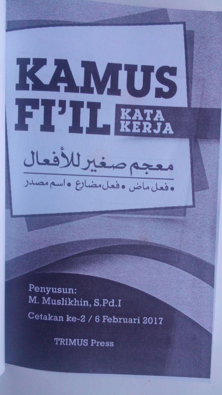 Buku Kamus Fi'il Kata Kerja Arab Indonesia 30,000 isi