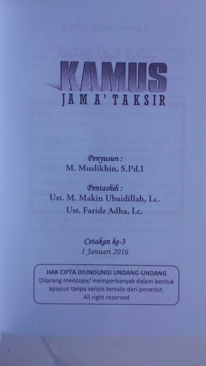 Buku Kamus Jama' Taksir 20,000 isi