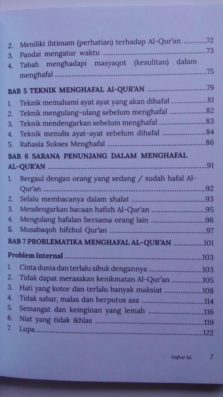 Buku Kiat Sukses Menjadi Hafidz Al-Quran Daiyah 45.000 15% 38.250 Markaz Al-Quran Abdul Aziz Abdur Rauf isi 2