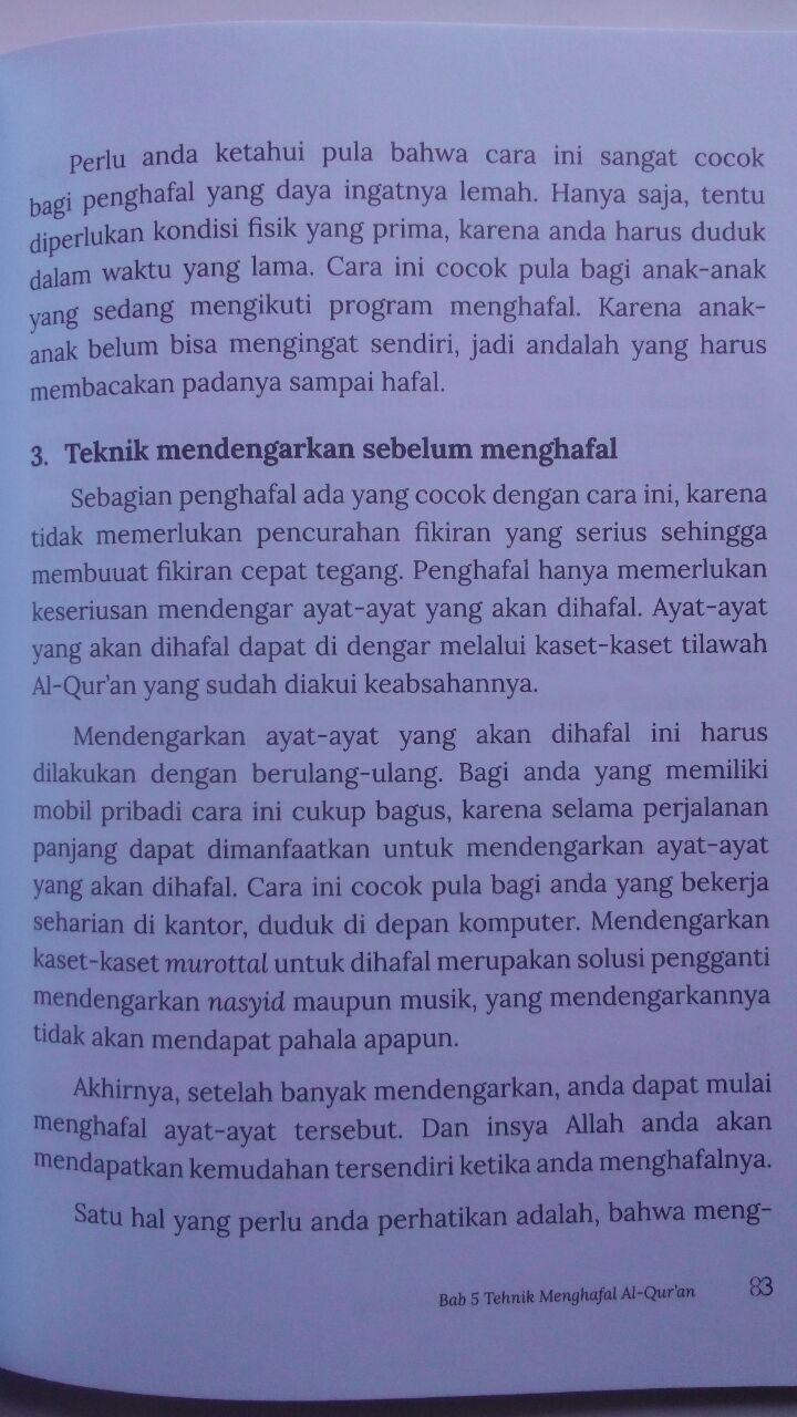 Buku Kiat Sukses Menjadi Hafidz Al-Quran Daiyah 45.000 15% 38.250 Markaz Al-Quran Abdul Aziz Abdur Rauf isi 3