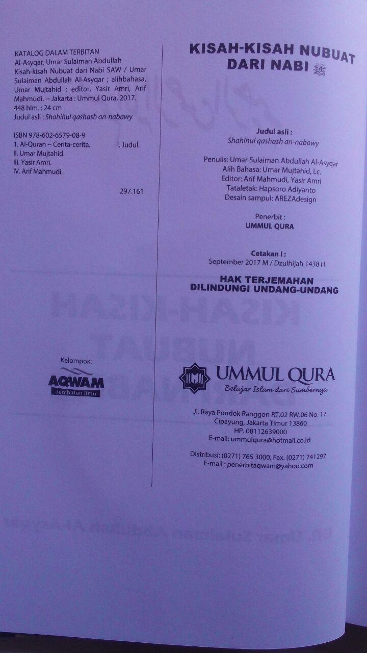 Buku Kisah-Kisah Nubuat Dari Nabi Berdasarkan Riwayat Shahih 120.000 20% 96.000 Ummul Qura Umar Sulaiman Al-Asyqar isi