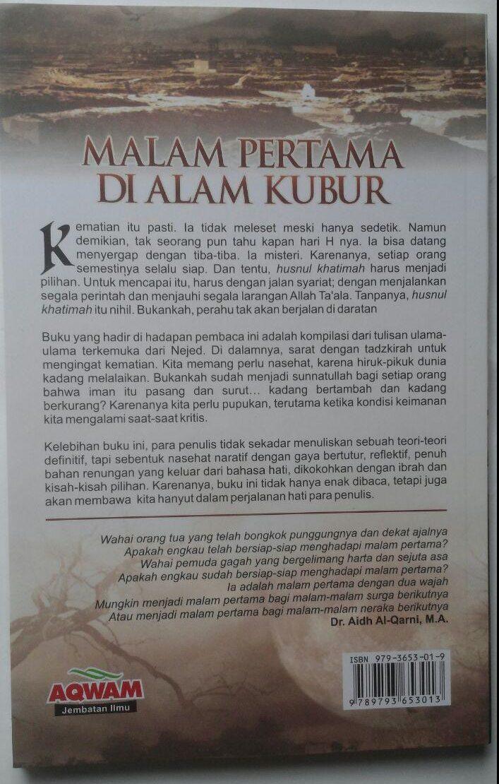 Buku Malam Pertama Di Alam Kubur 39.000 15% 33.150 Aqwam Muhammad bin Abdurrahman Al-Uraify cover