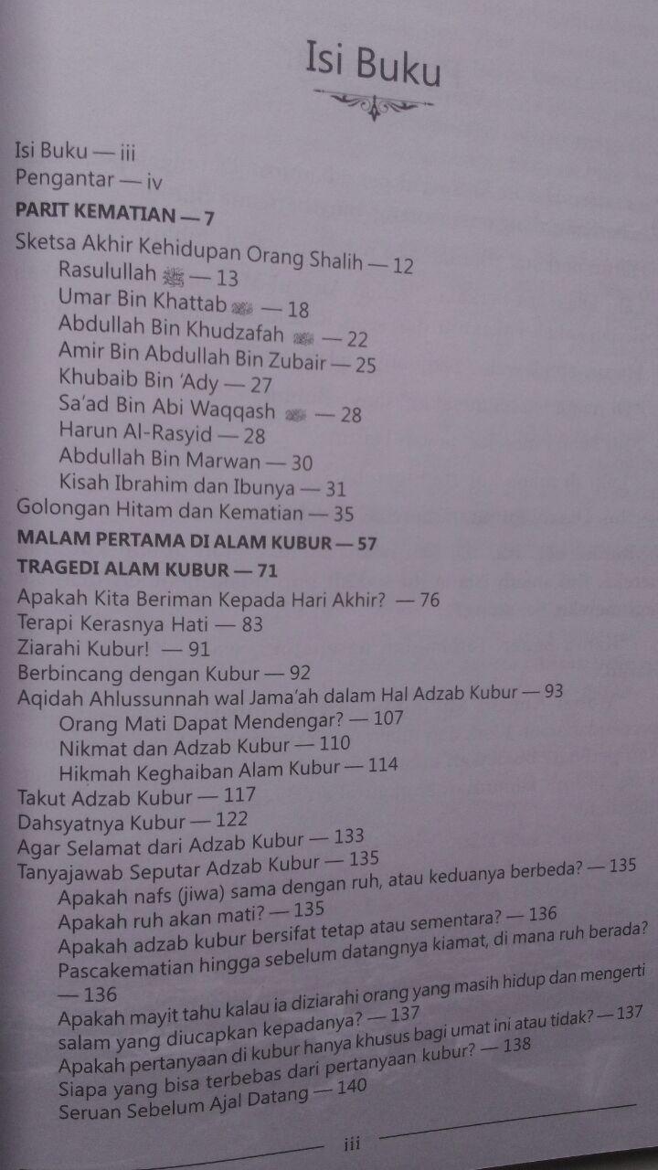 Buku Malam Pertama Di Alam Kubur 39.000 15% 33.150 Aqwam Muhammad bin Abdurrahman Al-Uraify isi 2