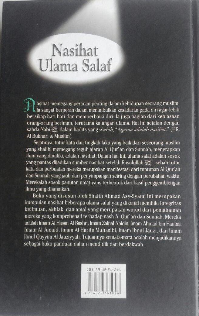 Buku Nasihat Ulama Salaf 207.000 20% 165.600 Pustaka Azzam Shalih Ahmad Asy-Syami cover
