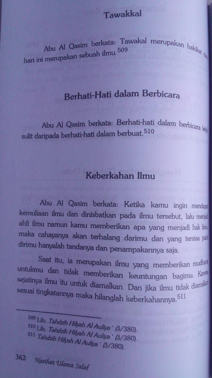 Buku Nasihat Ulama Salaf 207.000 20% 165.600 Pustaka Azzam Shalih Ahmad Asy-Syami isi 3