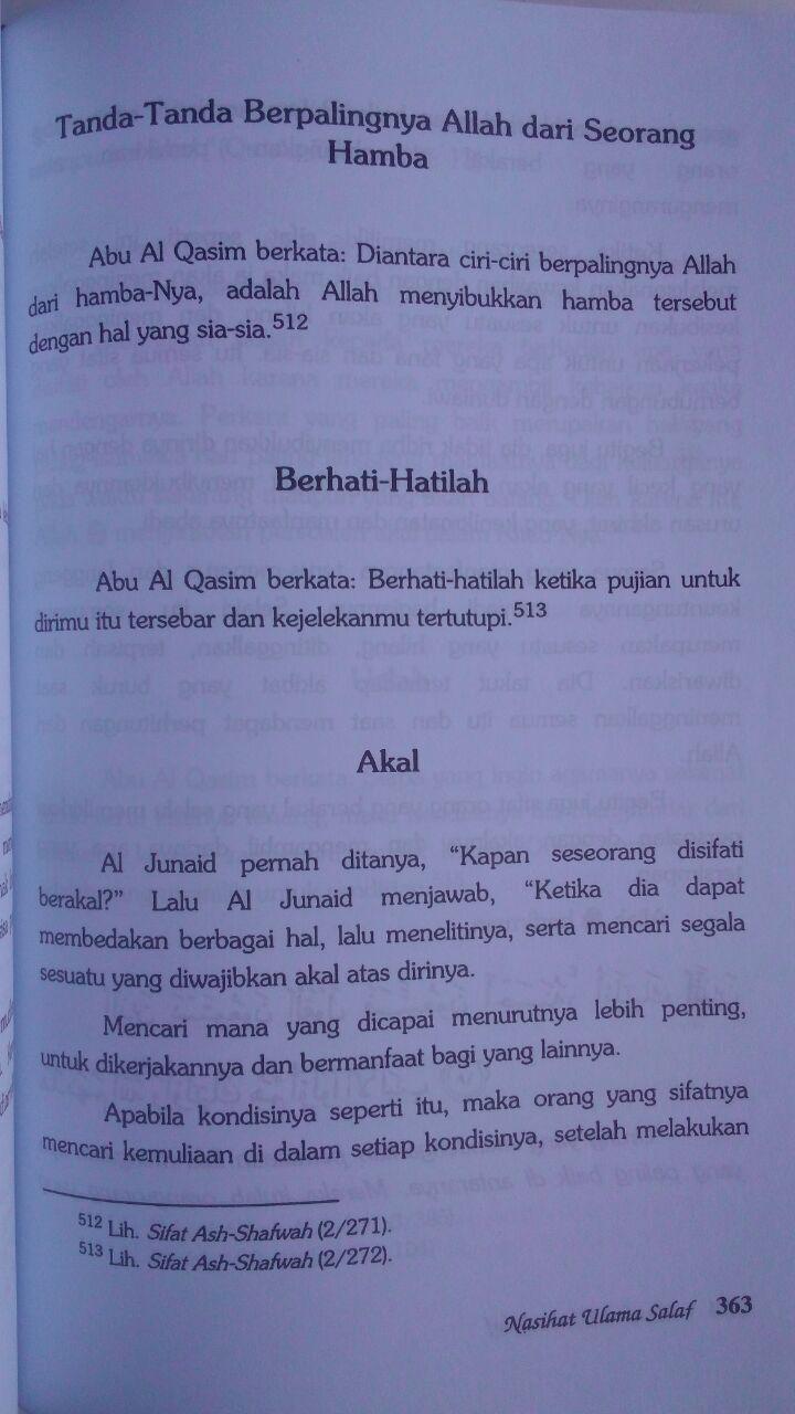 Buku Nasihat Ulama Salaf 207.000 20% 165.600 Pustaka Azzam Shalih Ahmad Asy-Syami isi 4