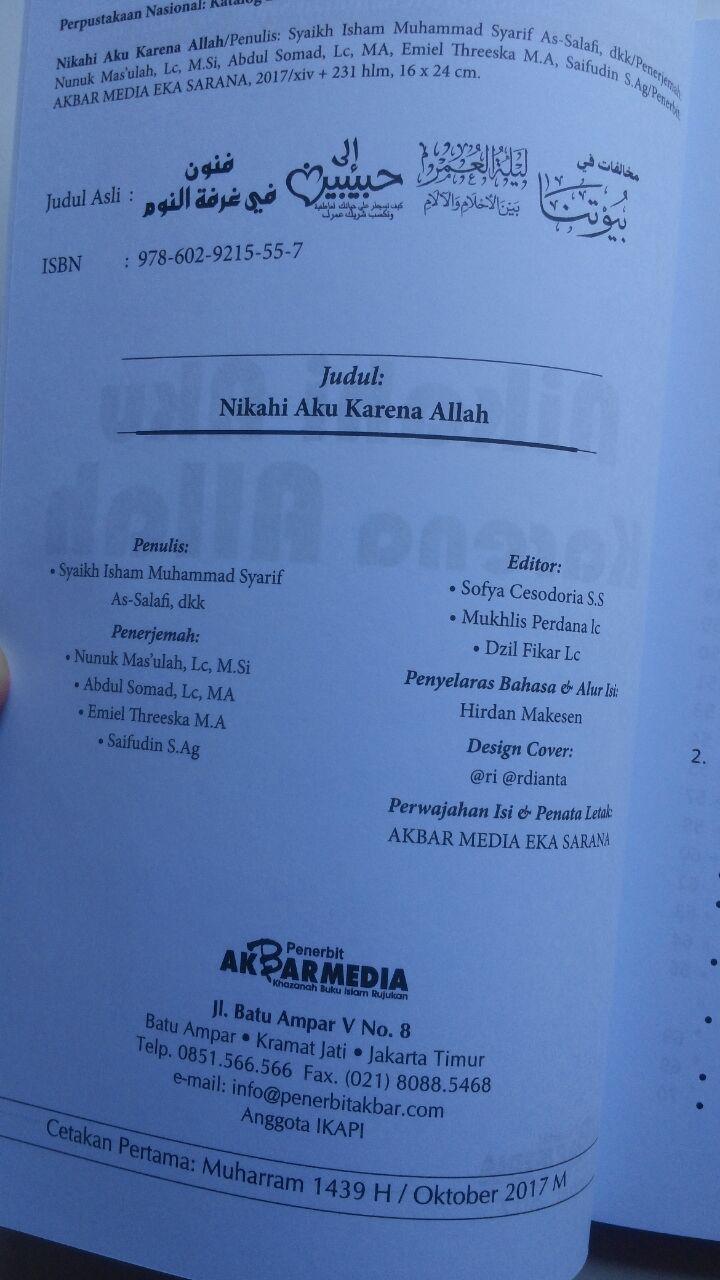 Buku Nikahi Aku Karena Allah 45.000 15% 38.250 Akbar Media Isham Muhammad Syarif As-Salafi, dkk isi