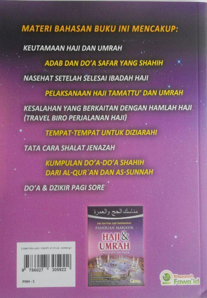 Buku Panduan Manasik Haji Dan Umrah Shahih Praktis Lengkap 50.000 20% 40.000 Khazanah Fawaid Abu Kayyisa Rakhmawan cover