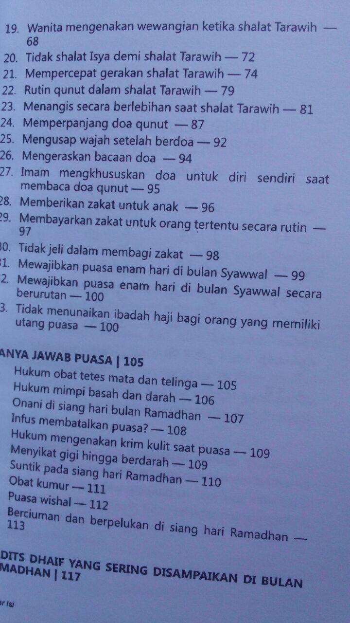 Buku Puasa Tapi Keliru Kesalahan Yang Sering Terjadi 25.000 15% 21.250 Aqwam Abdul Aziz As-Sadhan isi 2