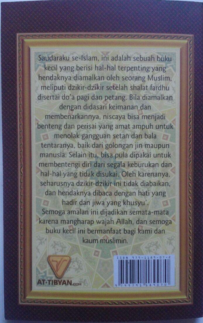Buku Saku Dzikir Pagi Dan Petang Dzikir Shalat Fardhu 5.000 15% 4.250 Pustaka At-Tibyan Said bin Wahf Al Qahthani cover
