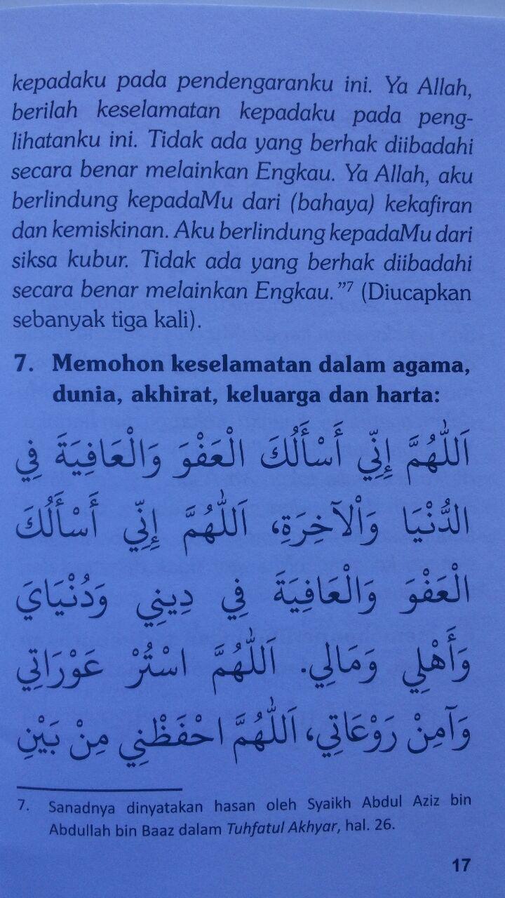 Buku Saku Dzikir Pagi Dan Petang Dzikir Shalat Fardhu 5.000 15% 4.250 Pustaka At-Tibyan Said bin Wahf Al Qahthani isi