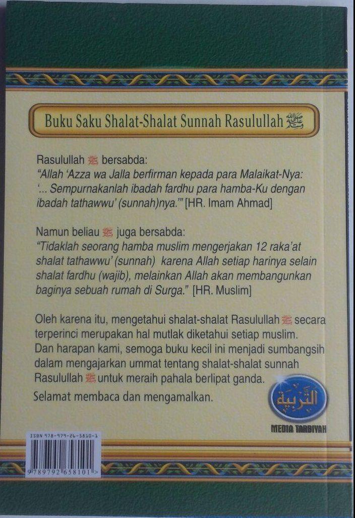 Buku Saku Shalat-Shalat Sunnah Rasulullah 12.000 15% 10.200 Media Tarbiyah Abdul Adzim bin Badawi Al-Khalafi cover