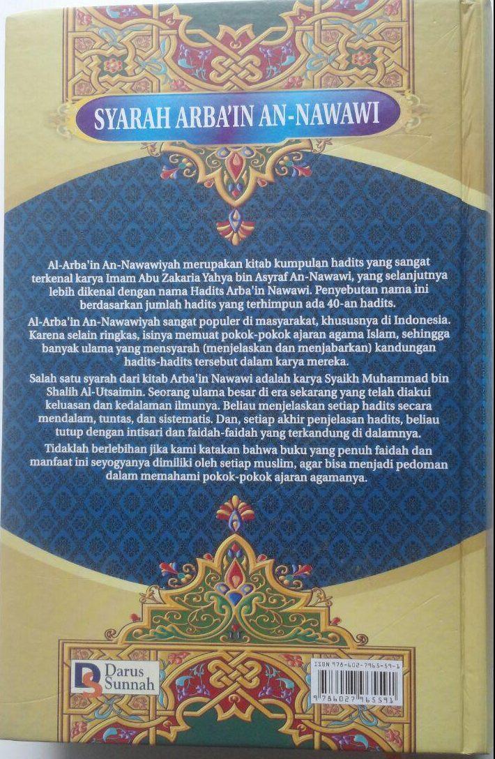 Buku Syarah Arbain An-Nawawi Penjelasan Hadits Pokok 90.000 20% 72.000 Darus Sunnah Muhammad bin Shalih Al-Utsaimin cover 2