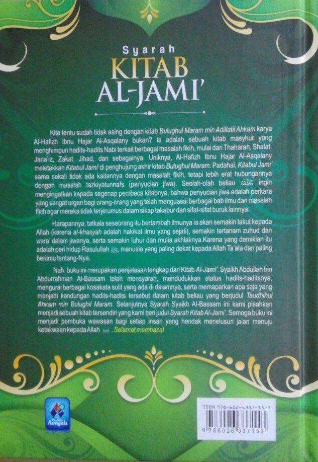 Buku Syarah Kitab Al-Jami' Penjelasan Lengkap Hadits Adab 85.000 20% 68.000 Pustaka Arafah Ibnu Hajar Al-Asqalany cover