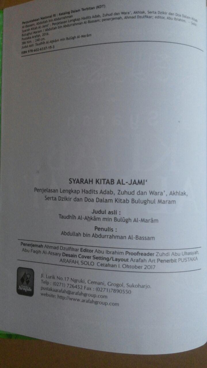 Buku Syarah Kitab Al-Jami' Penjelasan Lengkap Hadits Adab 85.000 20% 68.000 Pustaka Arafah Ibnu Hajar Al-Asqalany isi 3
