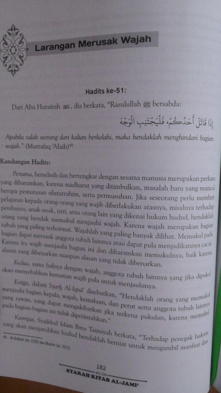 Buku Syarah Kitab Al-Jami' Penjelasan Lengkap Hadits Adab 85.000 20% 68.000 Pustaka Arafah Ibnu Hajar Al-Asqalany isi 5