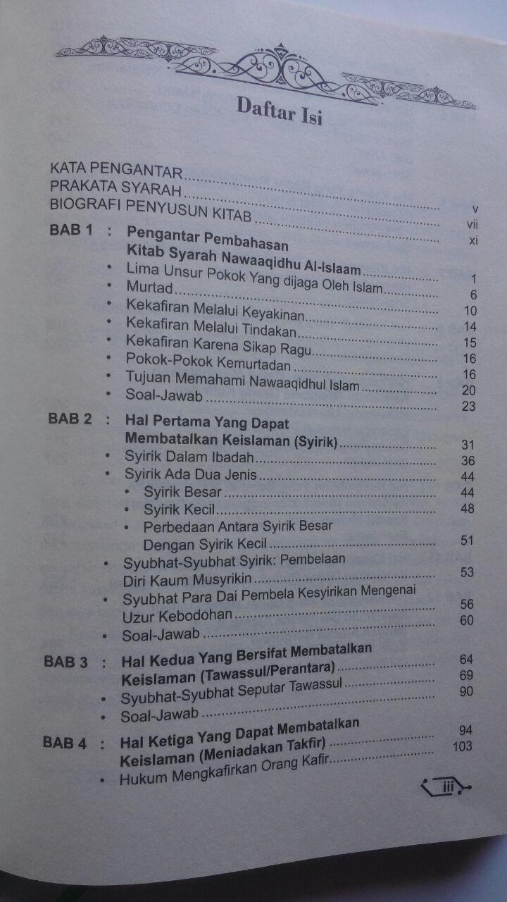 Buku Syarah Nawaaqidhul Islam 10 Perusak Pembatal Keislaman 80.000 20% 64.000 Akbar Media Muhammad bin Abdul Wahhab isi 2
