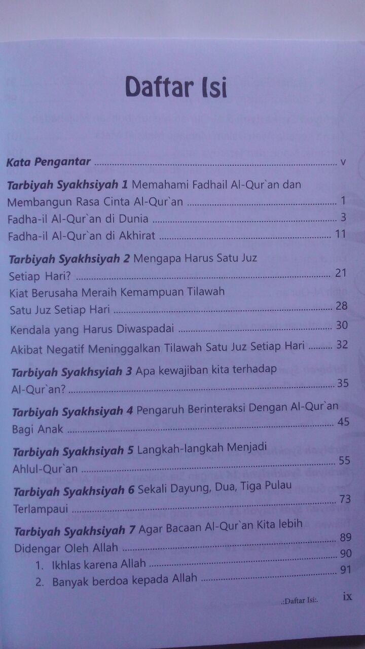 Buku Tarbiyah Syakhsiyah Quraniyah 16 Langkah Membangun 45.000 15% 38.250 Markaz Al-Quran Abdul Aziz Abdur Rauf isi 2