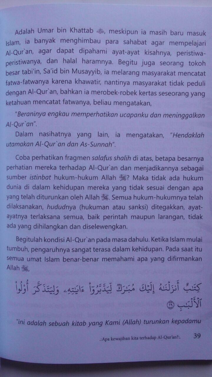 Buku Tarbiyah Syakhsiyah Quraniyah 16 Langkah Membangun 45.000 15% 38.250 Markaz Al-Quran Abdul Aziz Abdur Rauf isi 3